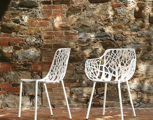 chaise et fauteuil forest blanc