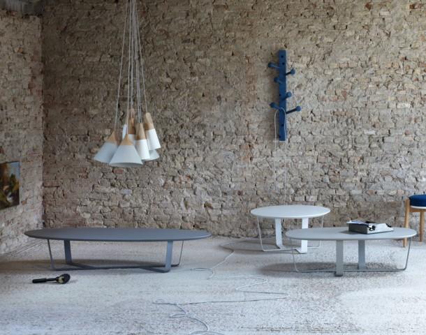 patere porte manteau SPILLO Tables appoint Bino declinaison avec lampes sled et